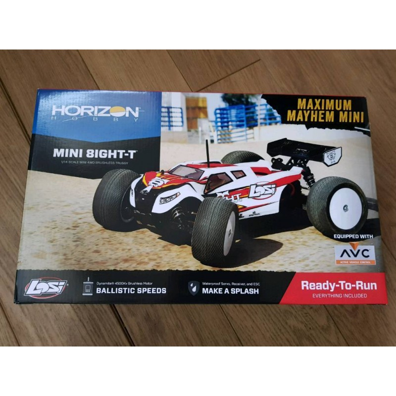 LOS01000 - Automodelo Elétrico Brushless 1/14 Mini 8IGHT-T Truggy 4WD RTR with AVC™ Technology