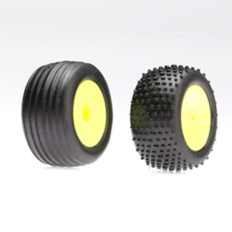 Rodas e pneus dianteiros / traseiros do Losi (Micr...
