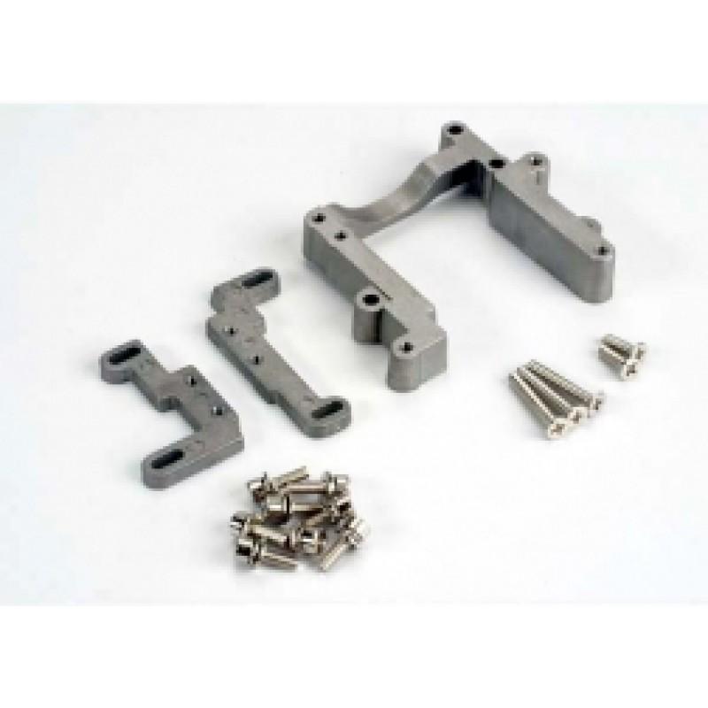 Suporte de motor, 2 peças, alumínio (com parafu...