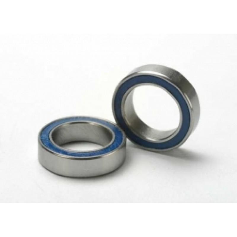 Rolamentos de esferas em borracha azul (10x15x4mm...