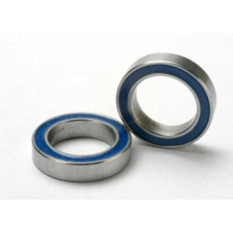 Rolamentos de esferas em borracha azul (12x18x4mm...