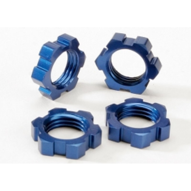 Porcas de roda, estriadas, 17mm (anodizado a azul)...