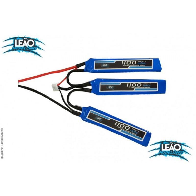 Bateria Lipo 11.1V 3S - 1100mAh - 20C - AirSoft