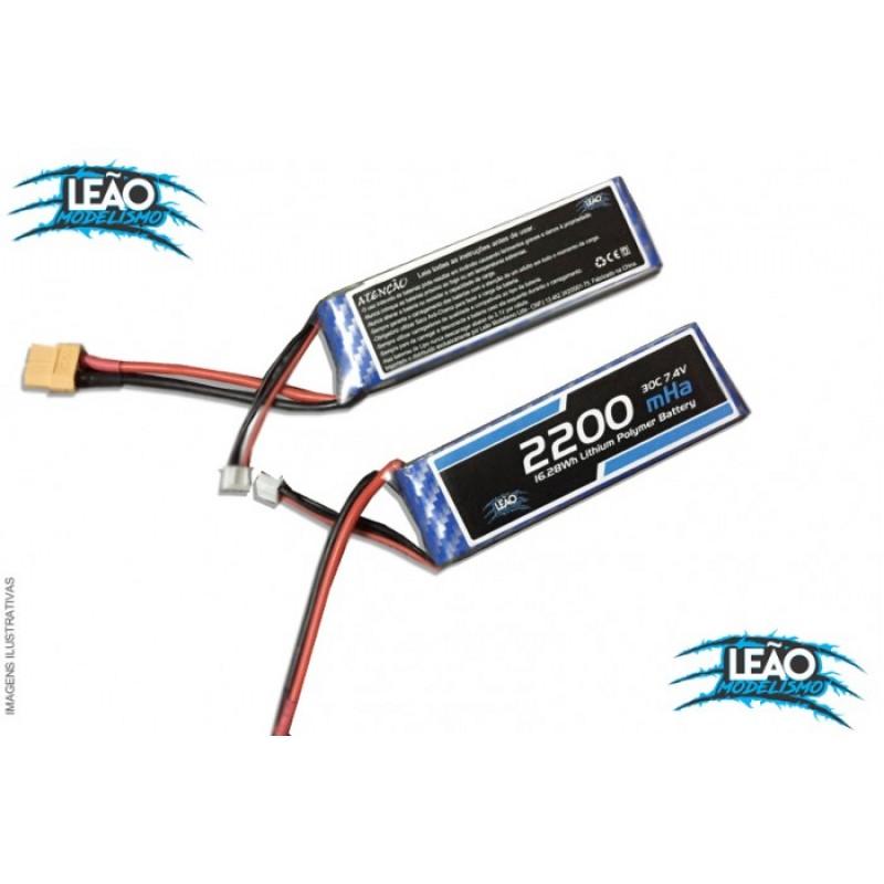 Bateria Lipo 7.4V 2S - 2200mAh- 30C