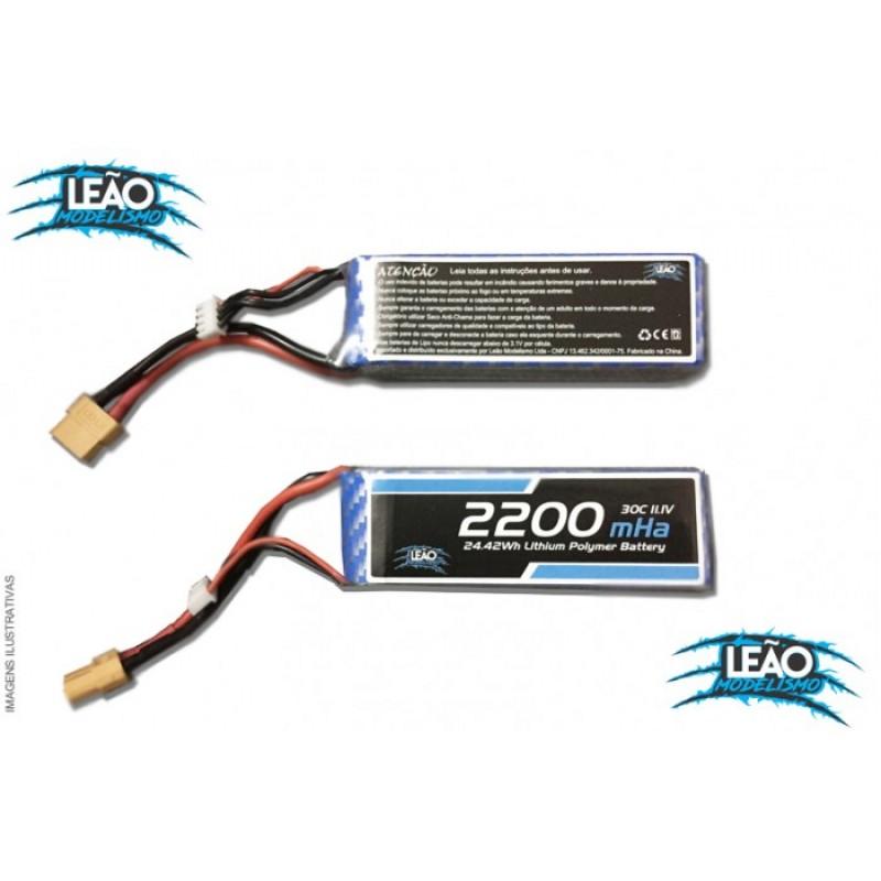 Bateria Lipo 11.1V 3S - 2200mAh - 30C