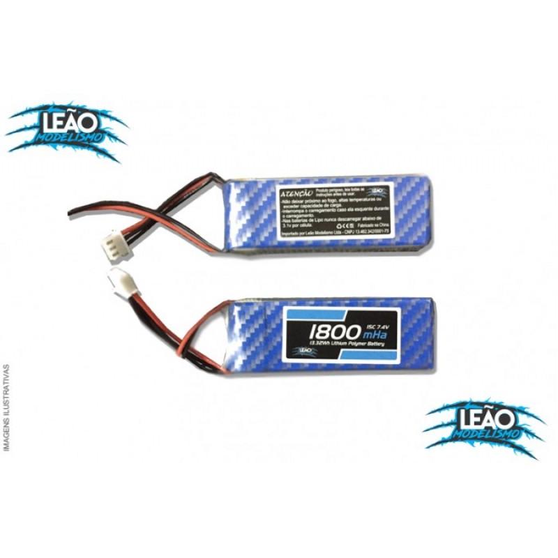 Bateria Lipo 7.4V 2S - 1800mAh - 15C - Receptor RX